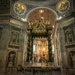róma vatikán szent péter bazilika bernini baldachin