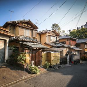 japán utcasor házak