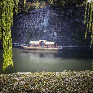 oszaka kastély fal várárok japán hajó