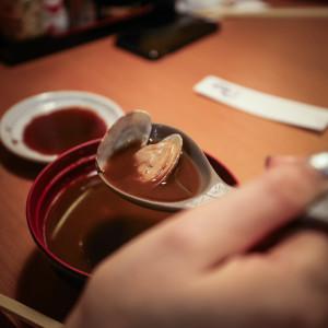 japán mizo leves kagylóval